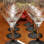 Zelfmaakidee, wijnglazen met schoolkrijt