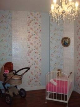 Pip behang in de babykamer