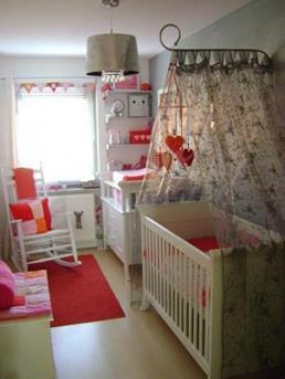 Bonte meiden babykamer