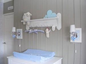 Brocante jongens babykamer