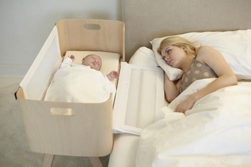 Interieur Inspiratie Babykamer ideeen, baby naast je bed