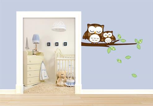 muursticker babykamer ideeen