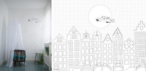 behang-grachtenpandjes-zwart-wit-Perron11