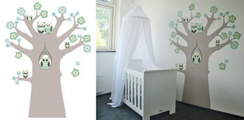 interieur inspiratie behang in de baby- of kinderkamer - interieur, Deco ideeën