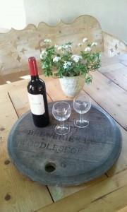 dienblad wijn