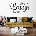 Muursticker Live Laugh Love
