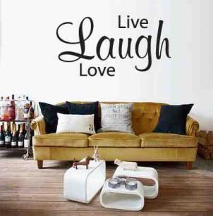 Muursticker Live Laugh Love