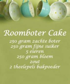 Muursticker Roomboter Cake