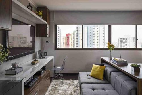 Inrichten Klein Appartement : Interieur inspiratie slim inrichten van 30m2 appartement in brazilië