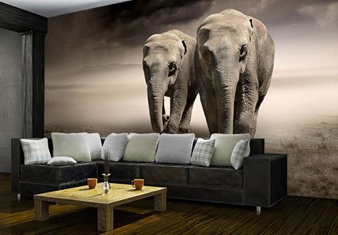 behang olifanten