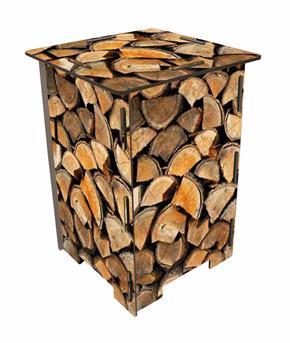 krukje gestapeld hout