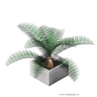 DIY betonnen plantenbak