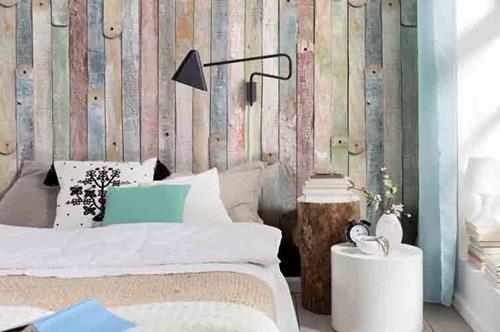 vintage sloophout behang