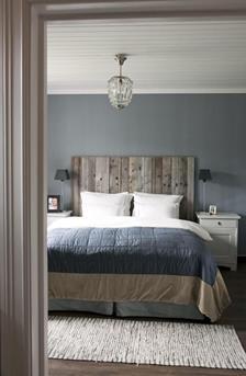 landelijke grijze slaapkamer
