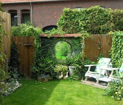 tuinposter doorkijk