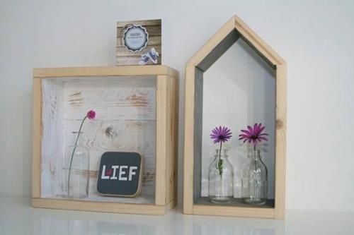 Houten huisjes decoratie houten design vogels als decoratie in je