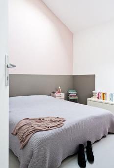 pastel muurslaapkamer