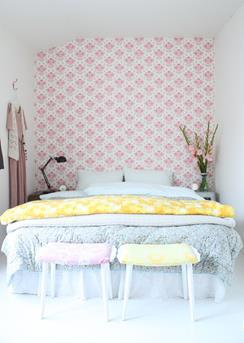 pastel in de slaapkamer