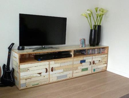 Een bijzonder tv meubel interieur inspiratie for Sloophout meubels