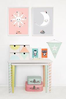 interieur inspiratie pastel in de kinderkamer interieur inspiratie. Black Bedroom Furniture Sets. Home Design Ideas