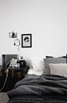 zwartwit slaapkamer
