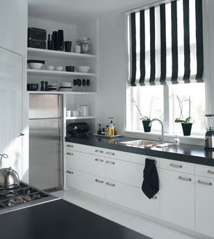 zwart wit vouwgordijn