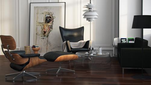 Vier Inrichtingen Met De Eames Designerstoelen Interieur