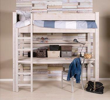 interieur inspiratie hoogslaper met bureau interieur inspiratie. Black Bedroom Furniture Sets. Home Design Ideas