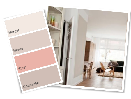 Interieur inspiratie een kloddertje roze pastel for Kleurcombinaties interieur