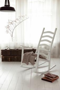 schommelstoel wit