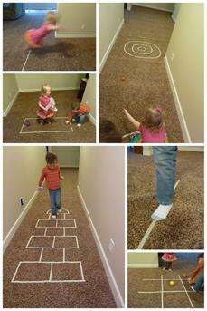 spelen op de vloer