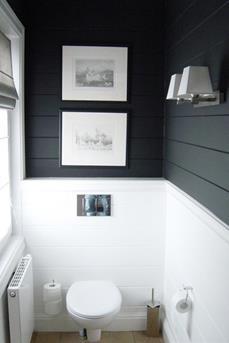 toilet zwart wit