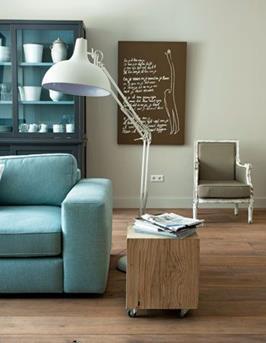 turquoise huiskamer