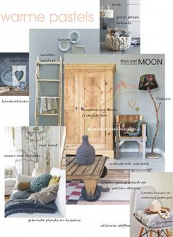 grof wollen breisels, sloophouten meubels en industriële elementen