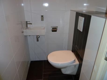 wit zwart toilet