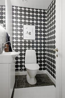 Interieur inspiratie een zwart wit toilet interieur inspiratie - Wc zwart wit ...