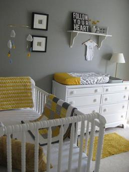 babykamer geel zwart