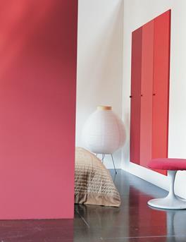 flexa rode slaapkamer