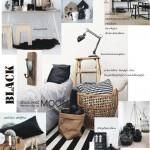 Zwart, wit met hout voor een warm interieur.