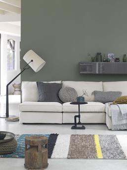 Interieur inspiratie natuurlijk groen wonen interieur inspiratie - Muur taupe kleur ...