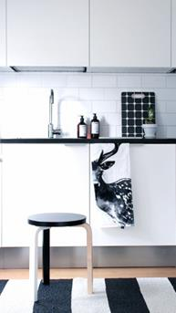 Zwart witte keukenaccessoires