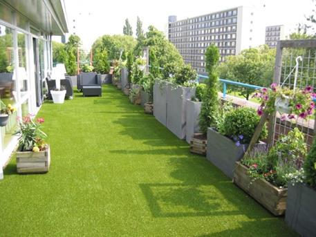 Tapijt Voor Balkon : Hout beton schutting: kunstgras tapijt voor balkon