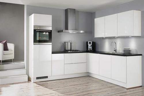 Keuken Zwart Blad : Witte keuken met houten vloer nieuw houten vloer zwart werblad