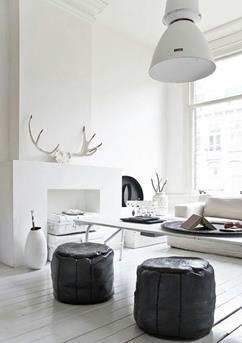 Zwart wit wonen woonkamer