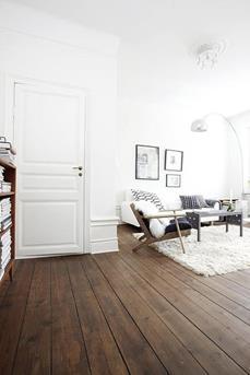 interieur inspiratie de donkere houten vloer - interieur inspiratie, Deco ideeën