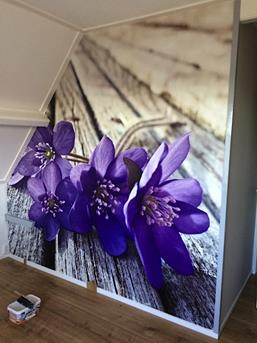 paarse slaapkamer