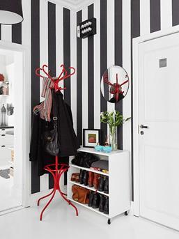 behang zwart wit strepen