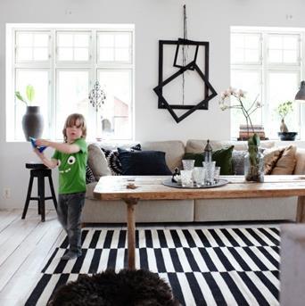 Interieur Inspiratie Zwart witte strepen in het interieur ...