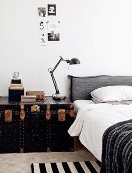 strepen slaapkamer interieur