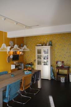 woonkeuken geel